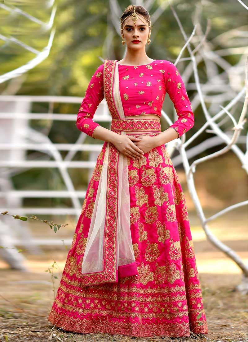 Embroidered Work Trendy A Line Lehenga Choli For Party