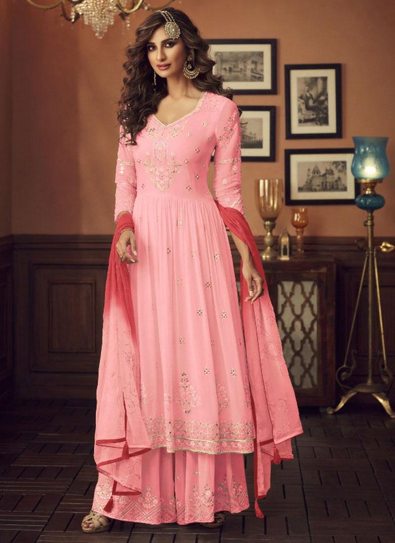 Embroidered Work Trendy Anarkali Salwar Suit