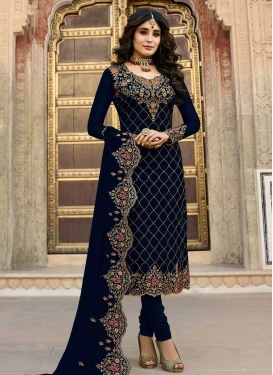 Embroidered Work Trendy Churidar Salwar Suit For Festival