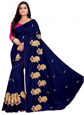 Embroidered Work Trendy Classic Saree
