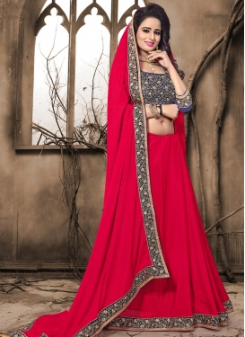 Embroidered Work Trendy Classic Saree For Ceremonial