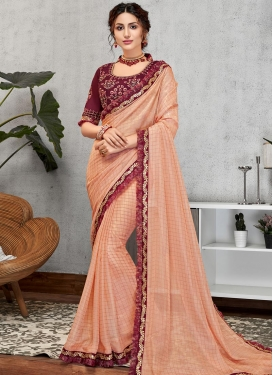 Embroidered Work Trendy Designer Saree