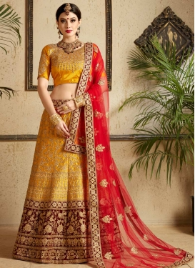 Embroidered Work Trendy Lehenga Choli For Festival