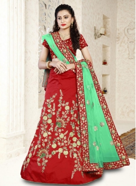 Embroidered Work Trendy Lehenga For Festival