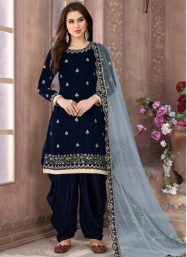 Embroidered Work Trendy Patiala Salwar Kameez