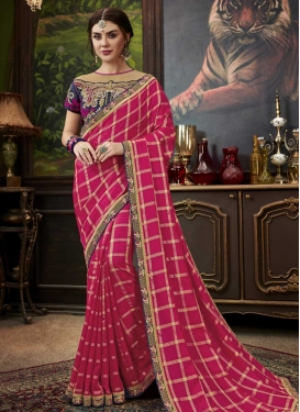 Embroidered Work Trendy Saree