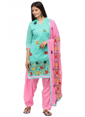 Embroidered Work Trendy Straight Suit