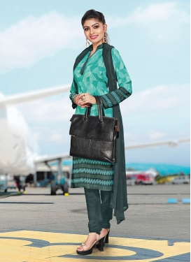 Enchanting Crepe Silk Print Churidar Suit