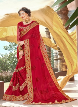 Enchanting Faux Georgette Classic Saree