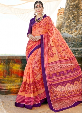 Energetic Multi Colour Printed Saree