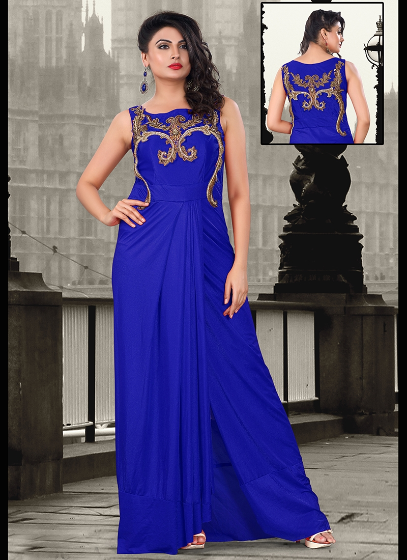 Enthralling Lycra Wedding Readymade Gown
