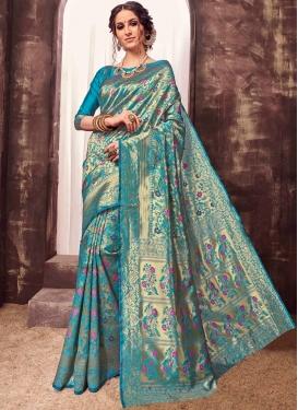 Enticing Weaving Designer Traditional Saree