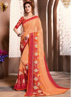Entrancing Faux Georgette Casual Saree
