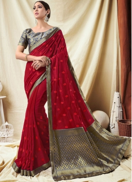 Epitome Red Classic Saree