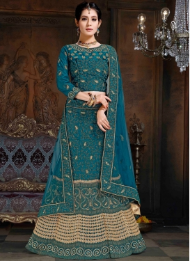 Especial Embroidered Satin Lehenga Choli