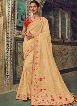 Ethnic Silk Georgette Ceremonial Trendy Saree