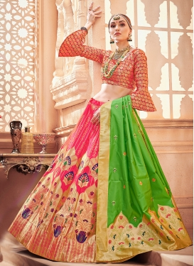 Ethnic Weaving Art Silk Designer Lehenga Choli