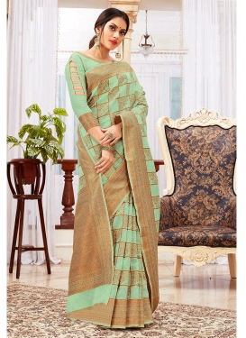 Exceeding Weaving Cotton Silk Traditional Saree