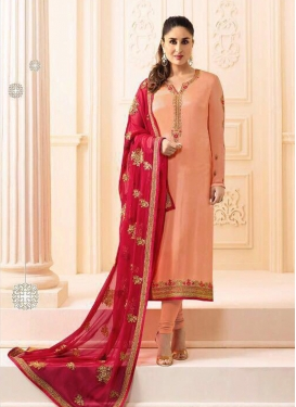 Exceptional Embroidered Kareena Kapoor Churidar Designer Suit