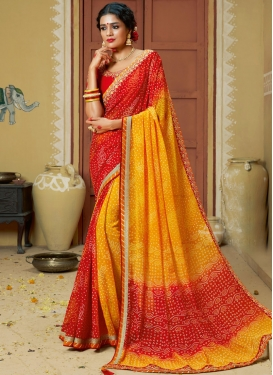 Exciting Multi Colour Printed Saree