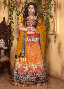 Exciting Orange Designer Lehenga Choli