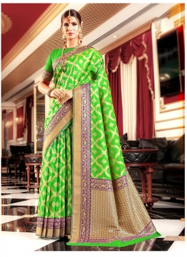 Exquisite Mint Green Festival Classic Saree
