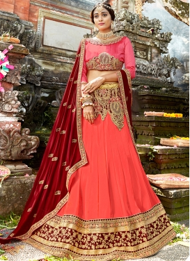 Exuberant Art Silk Embroidered Designer Lehenga Choli
