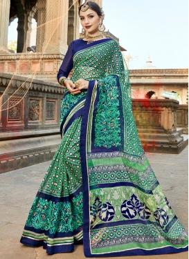 Fab Cotton Silk Multi Colour Print Printed Saree