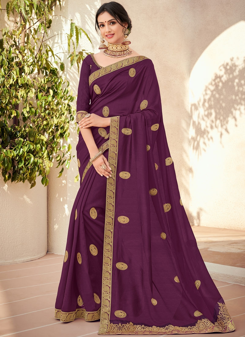 Fab Embroidered Trendy Saree