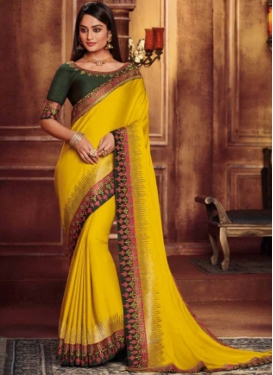 Fab Yellow Festival Designer Traditional Saree