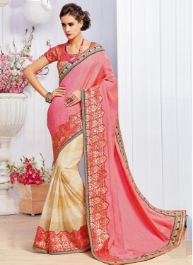 Fancier Lace Work  Half N Half Saree