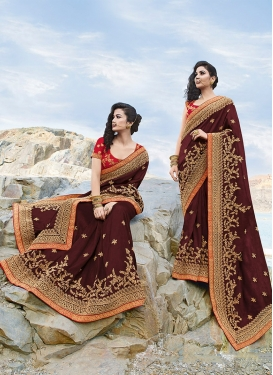 Fancy Art Silk Embroidered Classic Saree