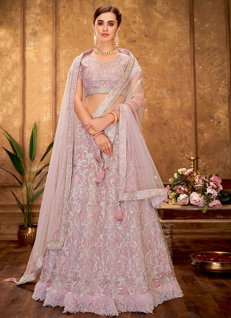 Fancy Fabric A - Line Lehenga For Festival