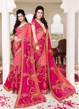 Fascinating Embroidered Wedding Designer Saree