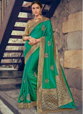 Fascinating Poly Silk Wedding Designer Saree