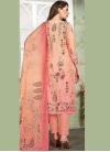 Fashionable Digital Print Pant Style Suit - 1