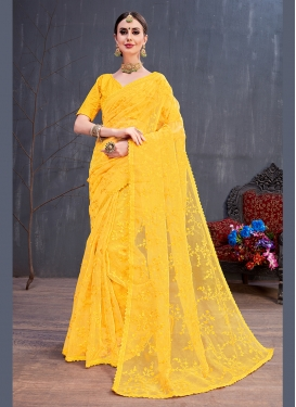 Fashionable Resham Party Traditional Saree