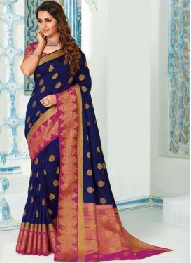 Fashionable Weaving Art Silk Traditional Saree