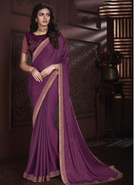 Faux Chiffon Contemporary Style Saree For Casual