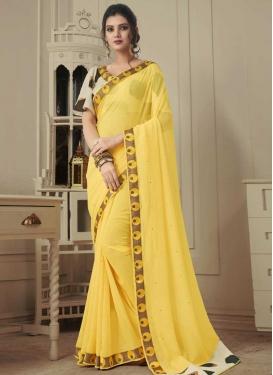 Faux Chiffon Designer Contemporary Saree For Casual