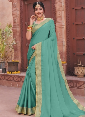 Faux Chiffon Designer Contemporary Saree For Casual