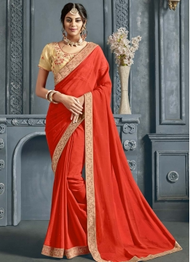 Faux Chiffon Designer Contemporary Saree For Ceremonial