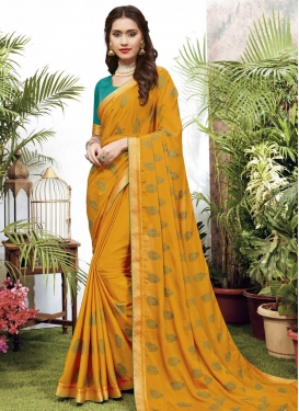 Faux Chiffon Designer Contemporary Style Saree