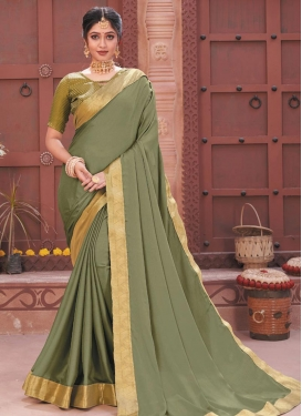 Faux Chiffon Designer Contemporary Style Saree For Casual