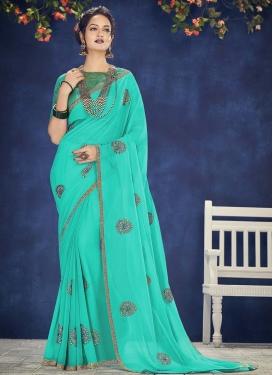 Faux Chiffon Designer Contemporary Style Saree For Ceremonial