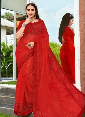 Faux Chiffon Designer Traditional Saree