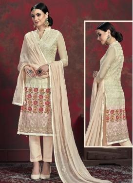 Faux Chiffon Pant Style Pakistani Salwar Suit