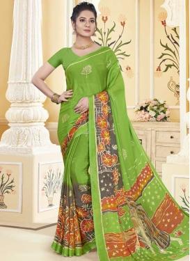 Faux Chiffon Traditional Designer Saree