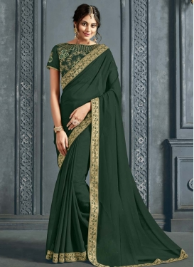 Faux Chiffon Traditional Designer Saree For Casual