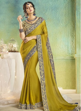 Faux Chiffon Traditional Designer Saree For Ceremonial